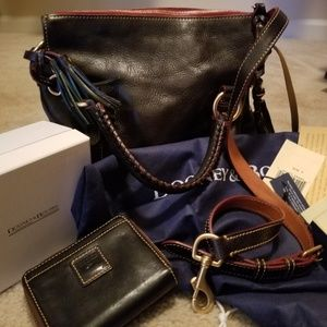 Dooney Bourke Florentine Navy Bag & Wallet & misc